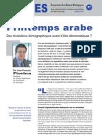 Printemps arabe - Note d'analyse géopolitique n° 37