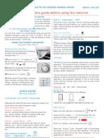 Ariston Washing Machine AML125 Quick Guide AUS