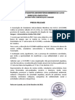Press Release - Doação de sangue