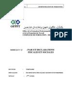 M09-PAIE ET DECLARATIONS FISCALES ET SOCIALES -TER- TSGE