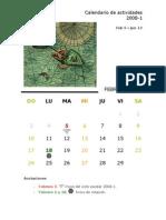 Calendario de actividades 2008-1.