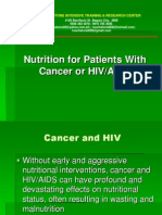 Nutrition for Patients With Cancer