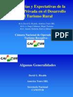 David G. Ricalde, CANOTUR TurismoRural, Bolivia