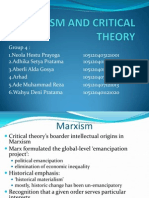 Marxism and Critical Theory