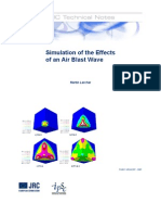 Simulation of the Effectsof an Air Blast Wave