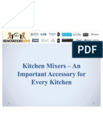 Kitchen Mixers – An Important Accessory for Every Kitchen