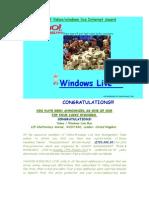 Award Notification Letter