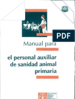 Manual Para El Personal Auxiliar de Sanidad Animal