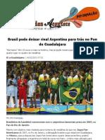 Brasil pode deixar rival Argentina para trás no Pan de Guadalajara
