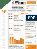 CV för Jimi Wikman, Webbdesigner, projektledare, konsult, utbildare och föreläsare.