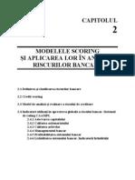 Modelele Scoring Si Aplicarea Lor in Analiza Riscurilor Bancare