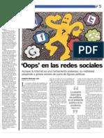 Oops! En las Redes Sociales