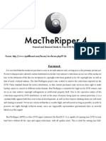 MacTheRipper 4.0 Manual