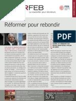 Réformer pour rebondir, Infor FEB n° 31, 13 octobre 2011