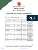 RESOLUCIÓN No. 022 - I Fase (Octubre 13 - 2011)
