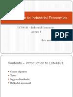 L1 - Introduction to Industrial Economics