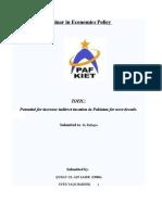 Seminar in Economics Policy Final