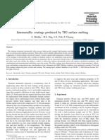 S.Mridha2001-İntermetallic coatings produced byTIG surface melting