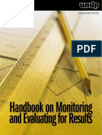 Handbook on Monitoring and Evaluating