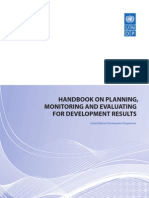 UNDP - Planning Monitoring and Evaluating for Results