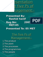 The five Ps of Management