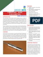 Vibrating Wire Piezometer - Product Details