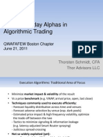 Use of Intraday Alphas in Algorithmic Trading Boston