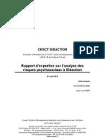 Rapport d'Expertise CEDAET - CHSCT Sidaction datant du 21 mai 2011.