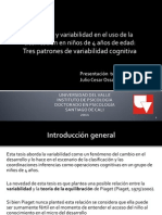 Matrices de transición y variabilidad cognitiva