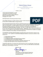 Sen. Carper's Letter to the Joint Select Committee on Deficit Reduction