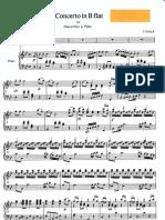 Josef FIALA -Oboe Concerto in B major-oboe and piano score
