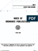 OP 0 - Index of Ordnance Publications (Twenty-Third Rev) 7 May 1946