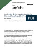 SP2010 Kerberos Guide