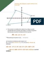 perímetro de un polígono en un plano cartesiano