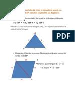 Calculando las diagonales de un ROMBO