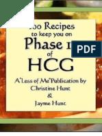 Sample eBook - 100 Recipes HCG