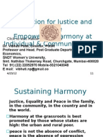 Education for Justice and Peace Empowering Harmony at Individual & Community Levels 17-10-2011