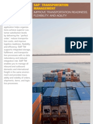 8 SAP Transportation Management   Cargo   Logistics