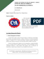 Cinco forças de Porter e ambientes - C&A