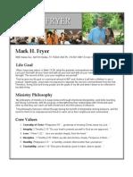 Resume for Mark Fryer