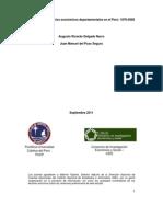 Convergencia y Ciclos económicos departamentales en el Peru