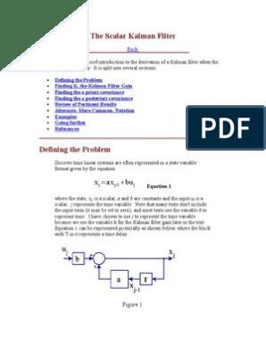 The Scalar Kalman Filter | Kalman Filter | Errors And Residuals
