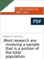 Chapter 8- Sampling