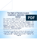 The Right of Parents to Good Treatment, Especially Your Mother