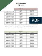 PSG Meetings - Fall 2011