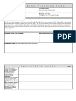 Yacht Race Problem Planning Form