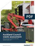 Getting Auckland's Waste Sorted | AC-0450 Waste Assessment