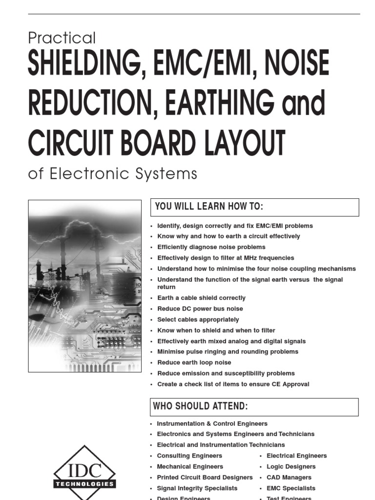 Practical Shielding Emc Emi Noise Reduction Earthing And Circuit Printed Board Designer Layout Electromagnetic Compatibility Interference