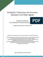 Bajo Aguan Informe Del 2011