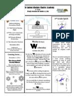 Newsletter 10-14-2011